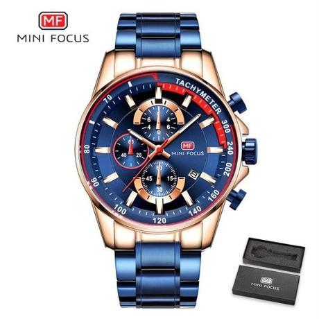ハイブランド メンズ 腕時計 MINI FOCUS クォーツ式 全4色