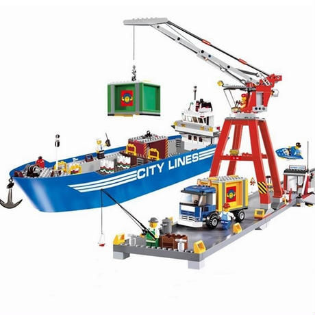 LEPIN シティ レスキュー隊 ミニフィグ付き LEGO レゴ 互換  シティの港