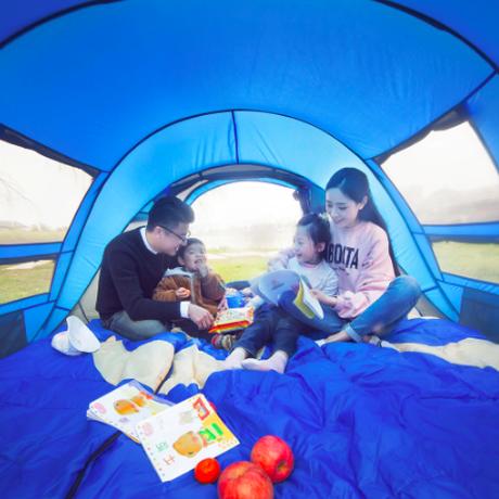 HuiLingyang  アウトドア キャンプ テント 自動テント3-4人用
