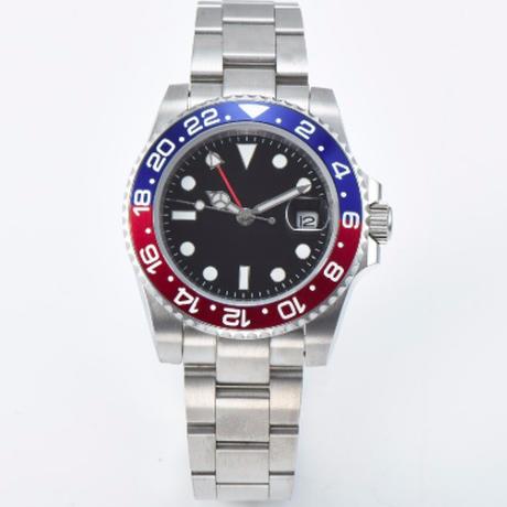 ウォッチ 腕時計 赤と青の ベゼル サファイア