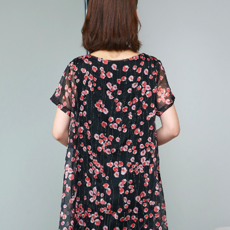 韓流 女性 ワンピース 花柄 レディース ドレス