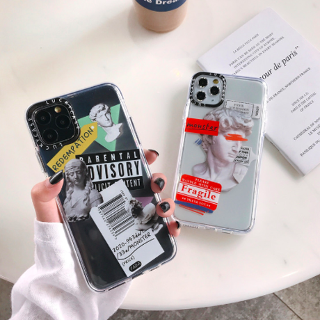 casetify iphone 11  casetify風 レターラベル ケース