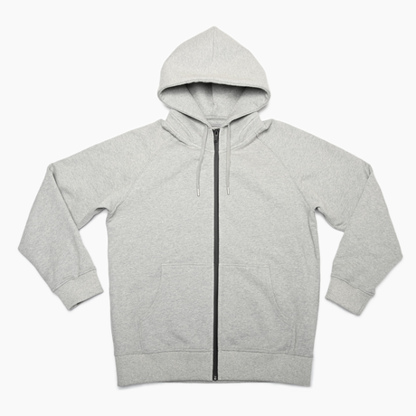 Raglan Zip Hooded Sweatshirt  Heather Gray  19S-104