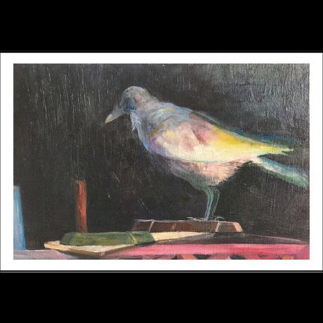 ポストカード「希望のからす」油絵