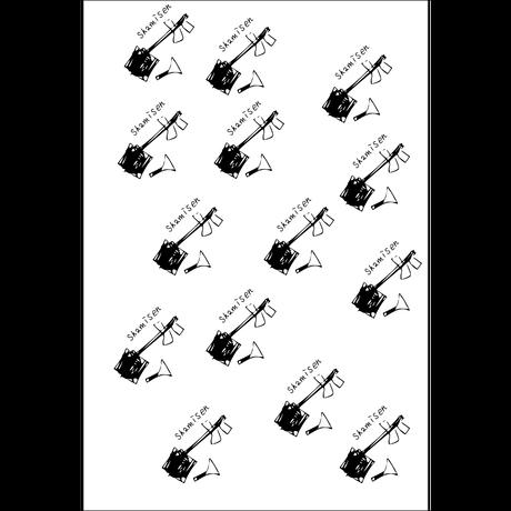 ポストカード「三味線魂」イラスト