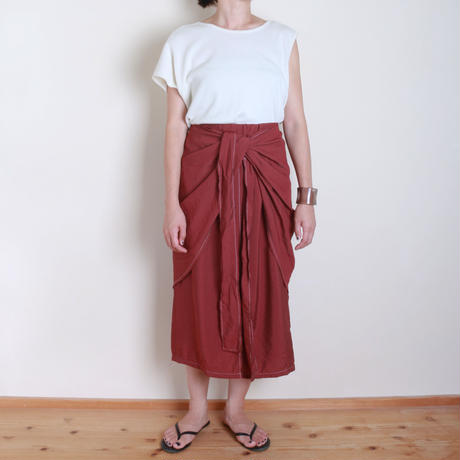 【&her】Wrap Tight  Skirt/Burgundy