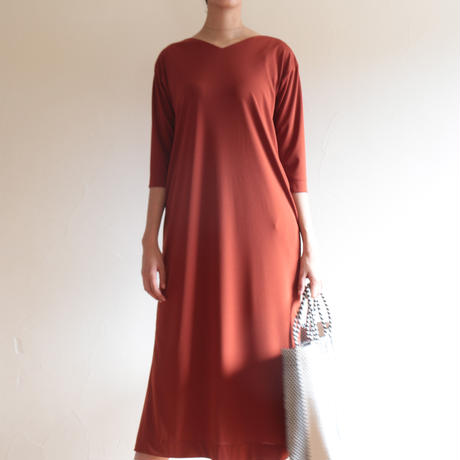 【&her】Smooth dress/Brown