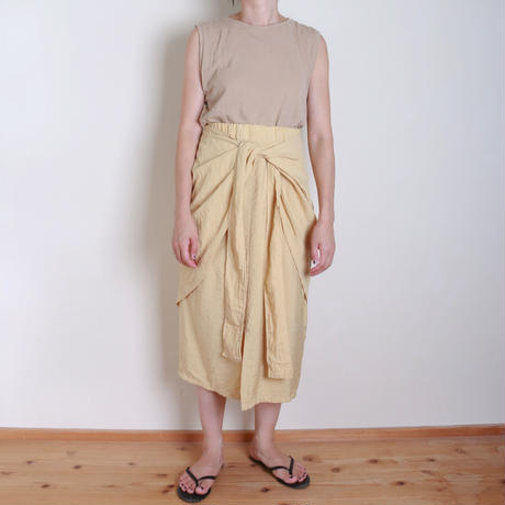 【&her】Wrap Tight  Skirt/Yellow