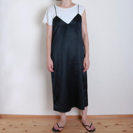 【&her】Silk Onepiece/Black