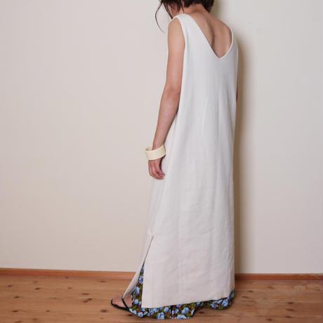 【&her】 Rib Onepiece/White