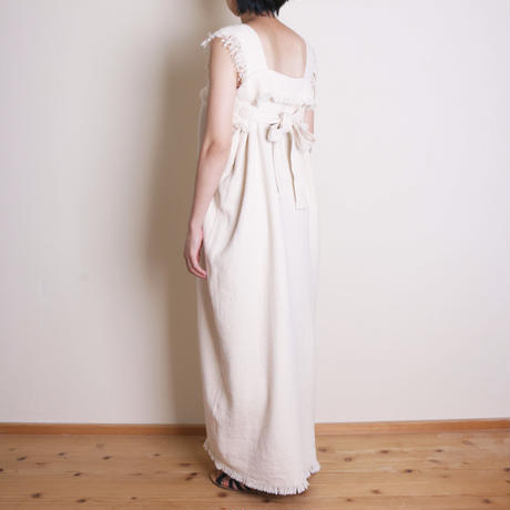 【&her】Weave Dress/Ivory  ⁂Delivery:8月10日前後⁂