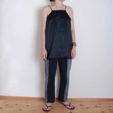 【&her】Silk Cami/Black