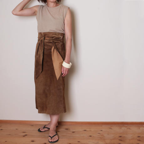 【&her】Suede Wrap Skirt