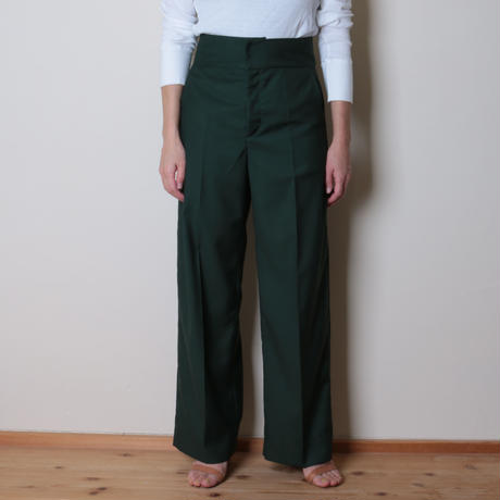 【&her】Luxe pants/Green