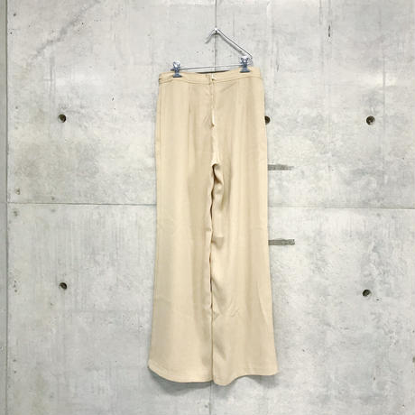 Poly easy beige wide pants