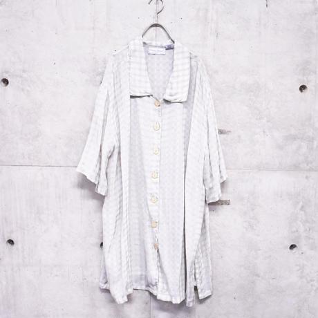 see-through check S/S shirt