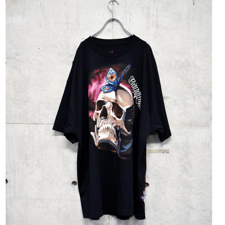 00s big printed tee 「skull×butterfly」