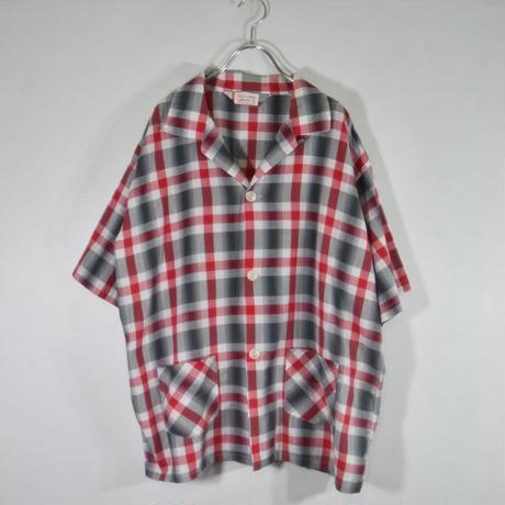 60's S/Sチェックパジャマシャツ/SS-0012