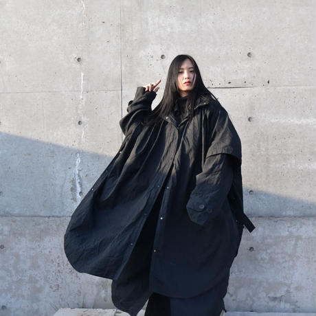 Nylon Big Poncho /unisex