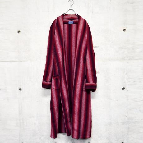 40's PENDLETON stripe wool gown
