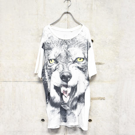 wolf face print tee