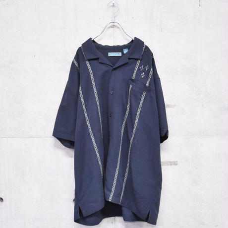 poly rayon embroidery shirt