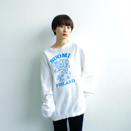 "80's print sweat ""made in Finland"""