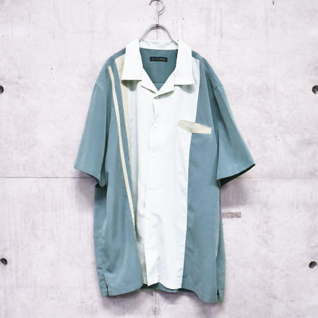 3tone S/S open collar shirt