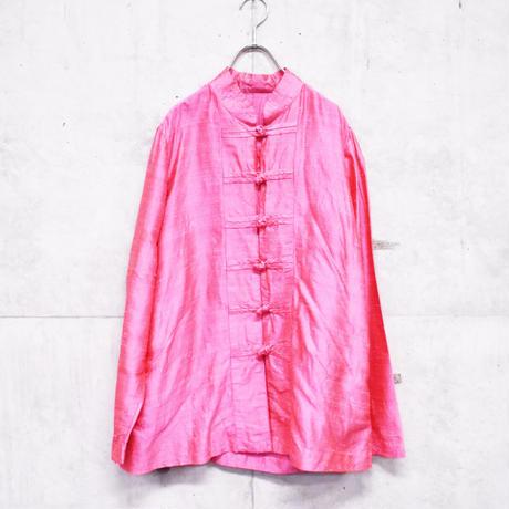pink silk china shirt