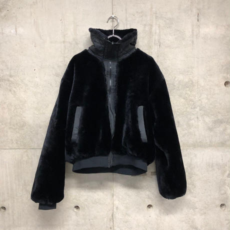 fake far  short blouson