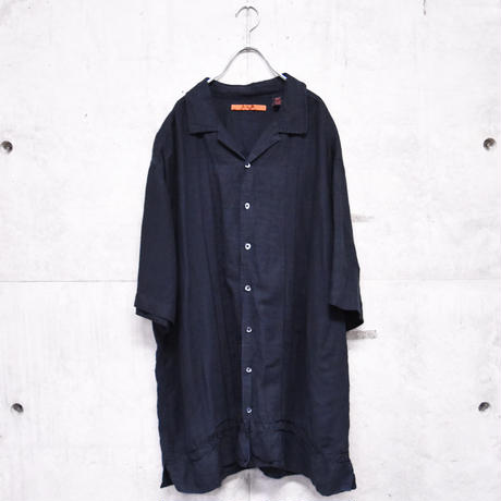 S/S black linenrayon BIG shirt