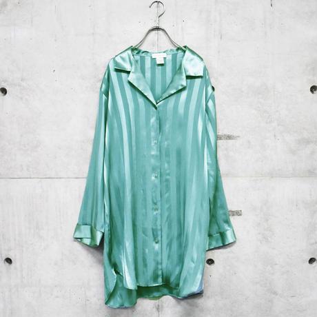 design open collar stripe shirt