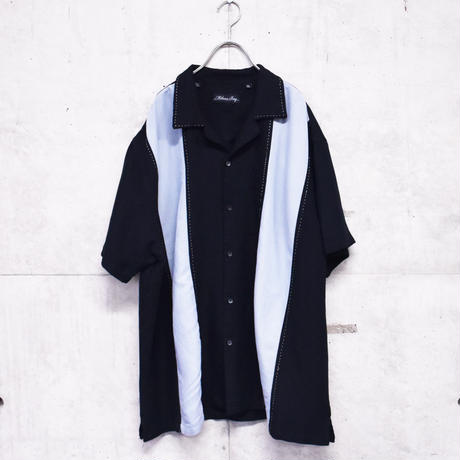 2tone open collar shirt
