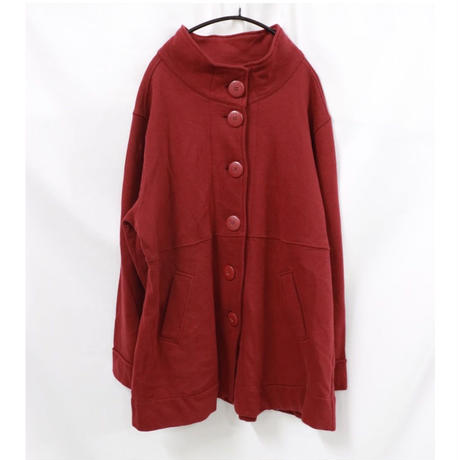 stand collar sweat cardigan