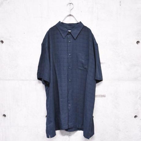 S/S design check BIG shirt