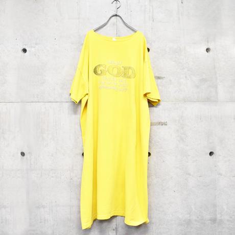90s yellow tee one-piece