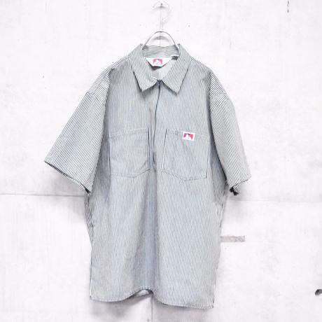 90s BEN DAVIS S/S stripe work shirt