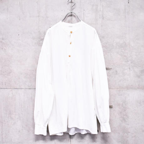 band collar cotton shirt