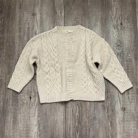 アラン編みbasic cardigan