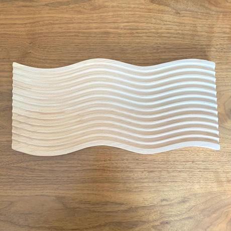 wood interior wave トレー