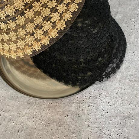 チュールflower刺繍hat