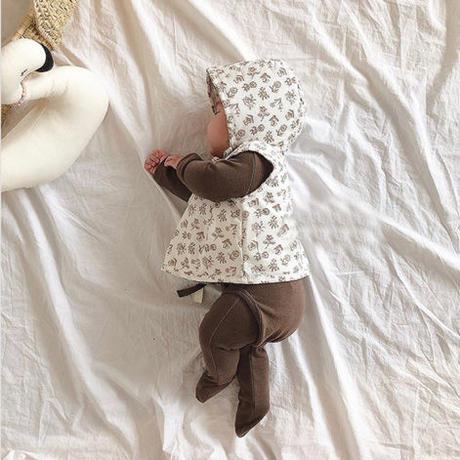 flower柄 baby wear 3set