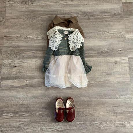 lace カラーdress