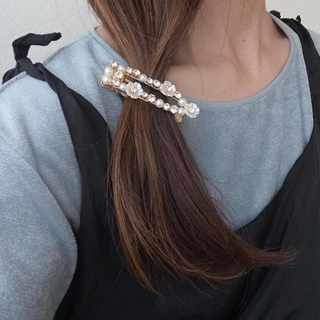 パールflowerヘアアクセset