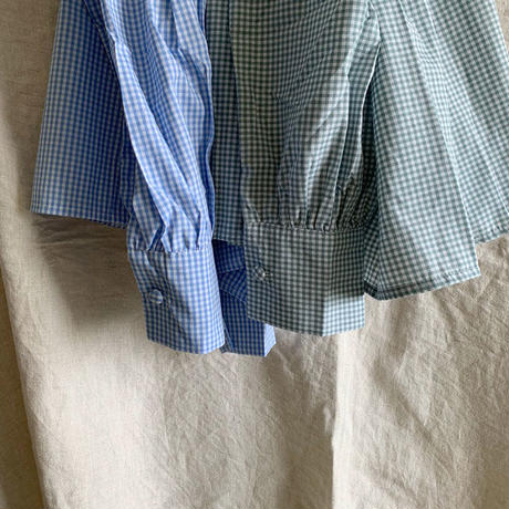 gingham check blouse (mama)
