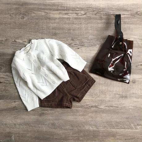 クロップドknit cardigan