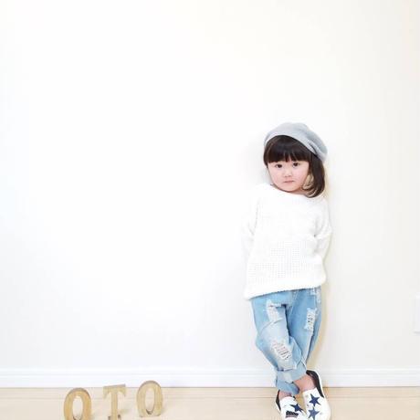 送料無料!【Kids 】ripped denim