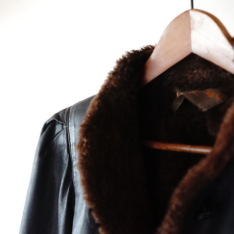 Yves Saint Laurent leather coat