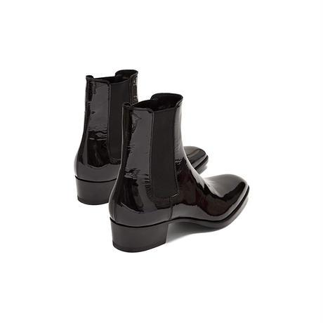 新品 saint laurent 2020ss wyatt heel boots 42