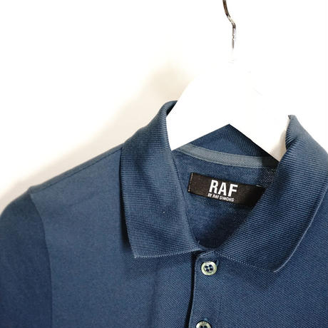 raf by rafsimons polo shirt navy